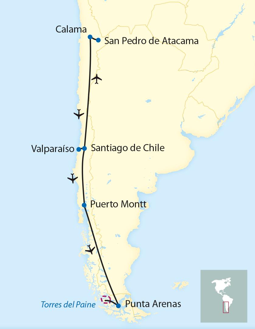 Atacama Wüste Karte.Tctt Zugreisen Von Der Atacama Wüste Bis Nach Patagonien 2019 2020